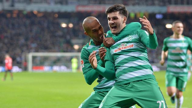 Grillitsch trifft - aber Bremen strauchelt weiter (Bild: APA/dpa/Carmen Jaspersen)