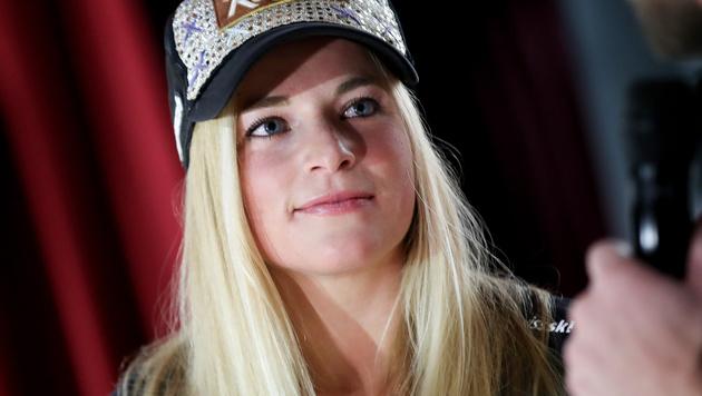 Lara Gut nach Kreuzbandriss zurück auf Schnee (Bild: GEPA)