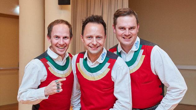 Die Jungen Zillertaler: Markus Unterladstätter, Daniel Prantl, Michael Ringler (Bild: Starpix/ Alexander TUMA)