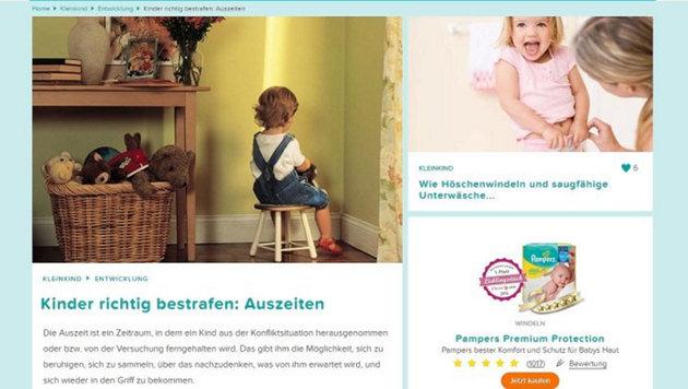 Dieser Artikel auf pampers.de führte zu einem Shitstorm im Netz. (Bild: facebook.com)