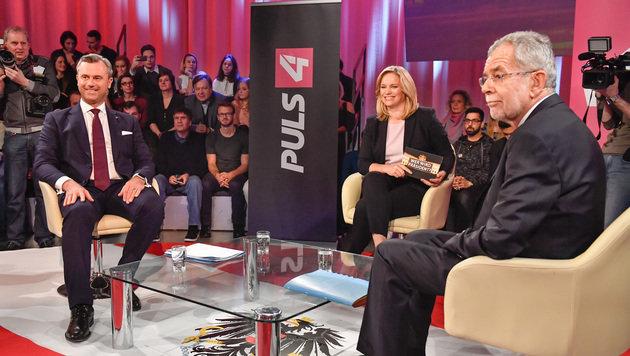 Hofer gewann TV-Duell gegen Van der Bellen (Bild: Puls 4)