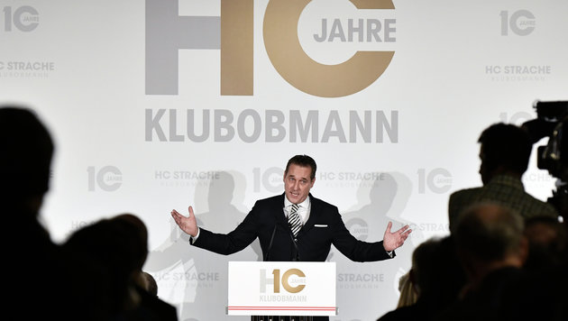 Strache feierte zehn Jahre Klubobmannschaft (Bild: APA/HANS KLAUS TECHT)