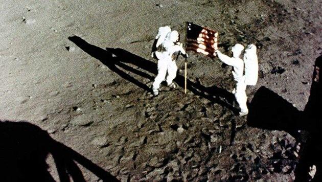 Apollo 11: Neil Armstrong und Buzz Aldrin waren 1969 die ersten Menschen auf dem Mond. (Bild: NASA)