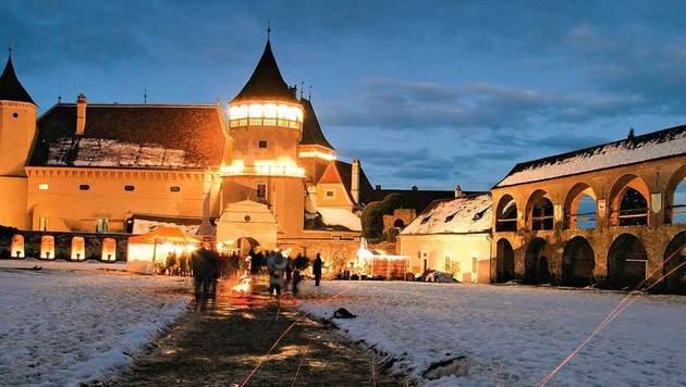 Stimmungsvoller Advent in der Waldviertler Rosenburg. (Bild: Lichtstark.com)