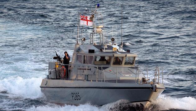 Ein Patrouillenboot der britischen Marine vor der Küste Gibraltars (Bild: UK Ministry of Defence)