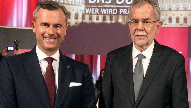 Norbert Hofer und Alexander Van der Bellen (Bild: AP)