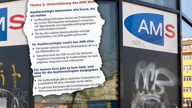 """So antworten AMS-Berater unzufriedenen Wienern (Bild: """"Krone"""", EXPA/ Michael Gruber)"""