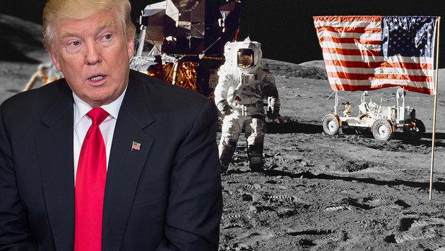 Statt Klimaschutz soll NASA zum Mond fliegen (Bild: AFP/Nicholas Kamm, NASA)