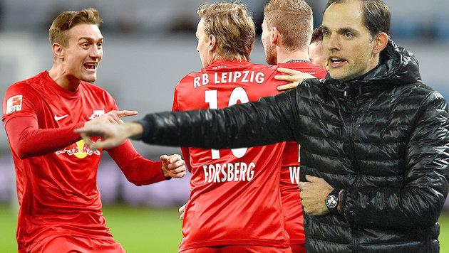 """Tuchel traut RB Leipzig Titel zu: """"Wie Leicester"""" (Bild: APA/AFP/PATRIK STOLLARZ, GEPA)"""