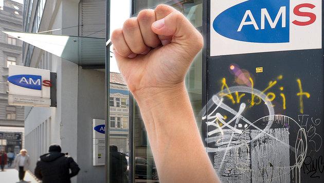Wien: Übergriffe beim AMS um 163 Prozent gestiegen (Bild: APA/HERBERT NEUBAUER, thinkstockphotos.de)