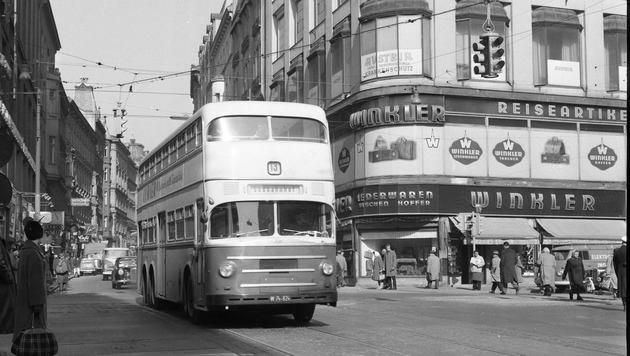 """""""""""Bobo-Linie"""" 13A: Am Mittwoch mit Doppeldecker-Bus (Bild: Wiener Linien)"""""""