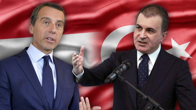 Christian Kern und der türkische EU-Minister Omer Celik (Bild: thinkstockphotos.de, APA/HERBERT NEUBAUER, AFP/ADEM ALTAN)