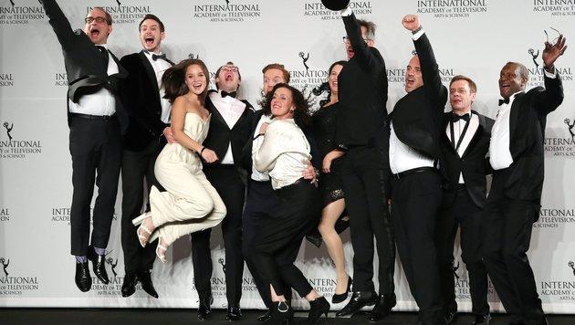 """Jubel beim Team des RTL-Films """"Deutschland 83"""" (Bild: EPA)"""