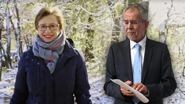 Nun wirft sich auch VdBs Frau in die Wahlschlacht (Bild: facebook.com/alexandervanderbellen, APA/HELMUT FOHRINGER)