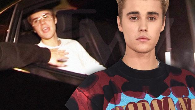 Justin Bieber dreht durch und schlägt Fan blutig (Bild: APA/AFP/Jason Merritt, YouTube.com)