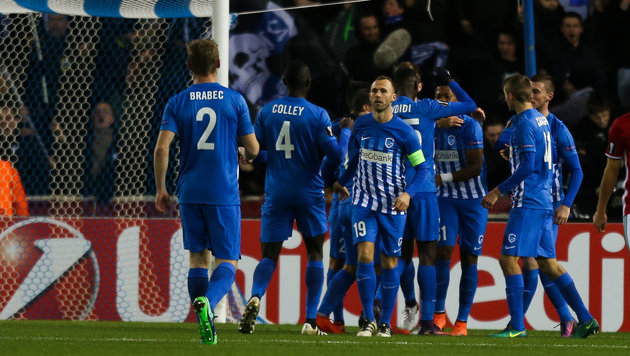 0:1 in Genk: Rapidler fliegen aus Europa League! (Bild: GEPA)