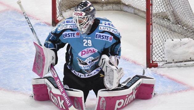 Linz-Goalie Michael Ouzas (Bild: GEPA)