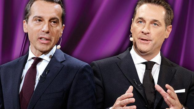 """Entscheidet rot-blaue """"Flirtshow"""" Hofburg-Wahl? (Bild: APA/GEORG HOCHMUTH, thinkstockphotos.de)"""