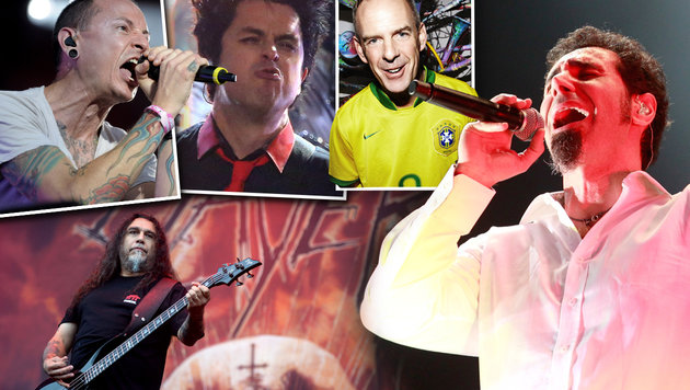 Fatboy Slim, Slayer und Co. verstärken Nova Rock (Bild: Warner Music, EPA, AP, AP, EPA)