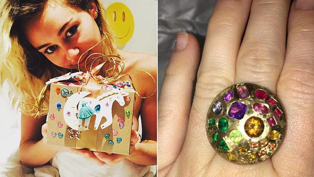 Liam Hemsworth schenkte Miley Cyrus zum Geburtstag einen zweiten Ring. (Bild: instagram.com/mileycyrus, instagram.com/liamhemsworth)