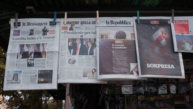 Umsatzeinbußen bei italienischen Medienverlagen (Bild: AFP)