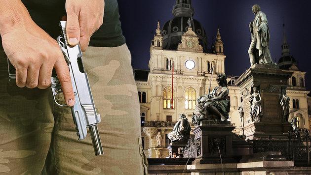 Wirbel um Pistolen-Mann am Grazer Hauptplatz (Bild: Jürgen Radspieler, thinkstockphotos.de)