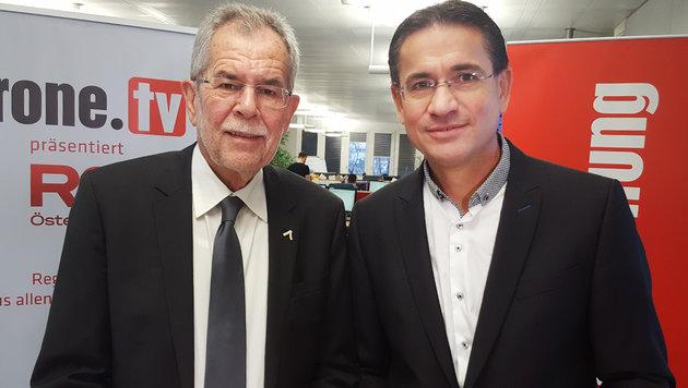 VdB würde Strache unter Umständen angeloben (Bild: krone.tv)