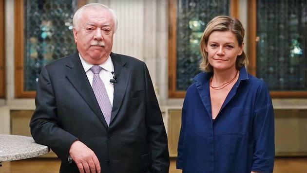 Michael Häupl und Sybille Straubinger (Bild: YouTube.com/SPÖ Wien)