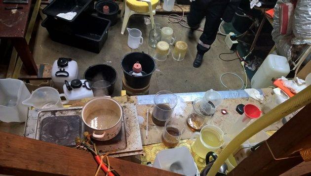 Drogenring gesprengt: 105 kg Crystal Meth entdeckt (Bild: Polizei OÖ)
