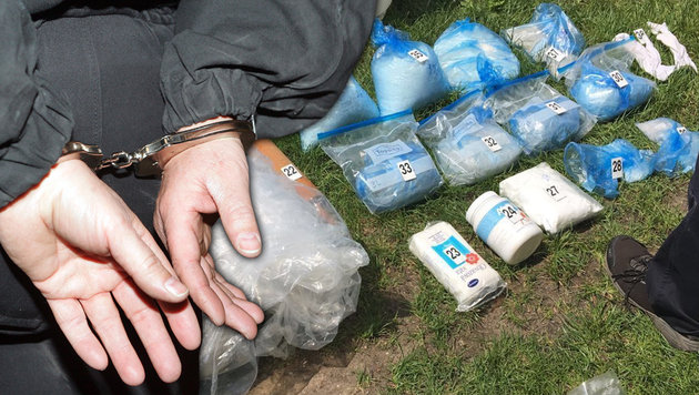 Drogenring gesprengt: 105 kg Crystal Meth entdeckt (Bild: Polizei OÖ, Andi Schiel)