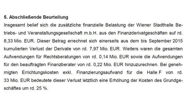 Stadthalle Wien: Acht Millionen Euro verspekuliert (Bild: Stadtrechnungshof)