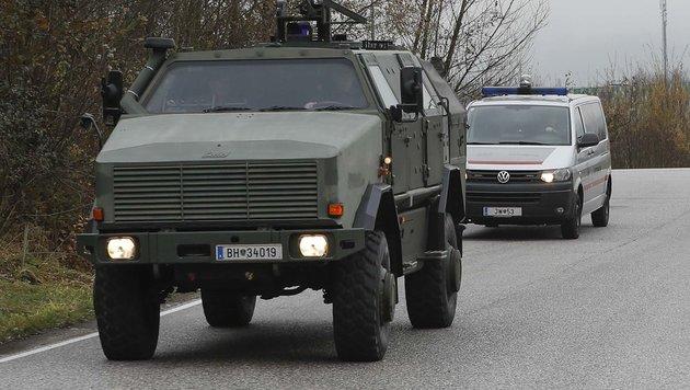 """Heeres-Panzerwagen """"Dingo"""" wird """"Terroristen-Taxi"""" (Bild: MARKUS TSCHEPP)"""