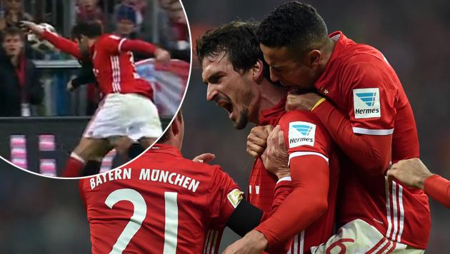 Video: Elferpfiff blieb aus - Bayern im Glück (Bild: AFP, SKY)