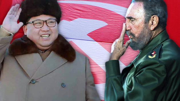 Wo der Kommunismus heute noch am Leben ist (Bild: APA/AFP/ALEXEY KRAVTSOV, APA/AFP/KCNA VIA KNS, APA/AFP/ADALBERTO)