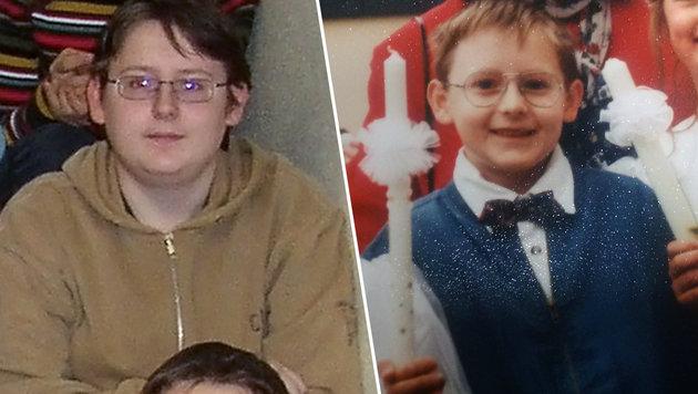 Fotos von Alen R. aus der Kindheit: bei der Erstkommunion (rechts) und mit 14, als er in Wels lebte (Bild: Privat)