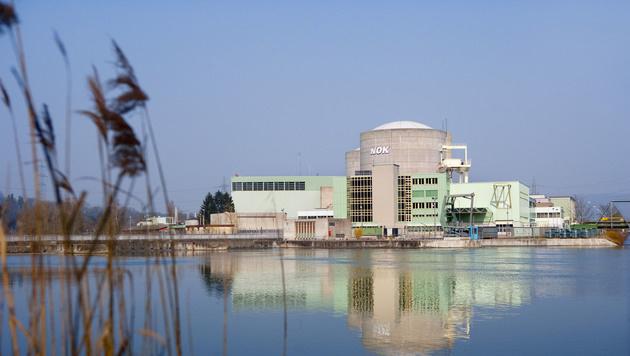 Das Kernkraftwerk Beznau I und II mit den beiden Reaktorblöcken an der Aare (Bild: APA/KEYSTONE/MARTIN RUETSCHI)