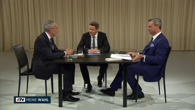 Keine Rekordquoten bei letztem TV-Duell im ORF (Bild: ATV)