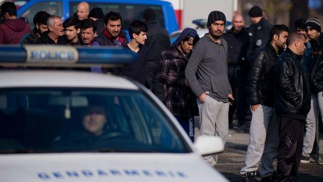 Flüchtlinge im bulgarischen Lager Harmanli (Bild: APA/AFP/STRINGER)