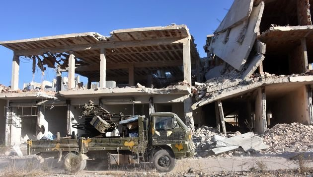 Clown von Aleppo im Bombenhagel gestorben (Bild: AFP)