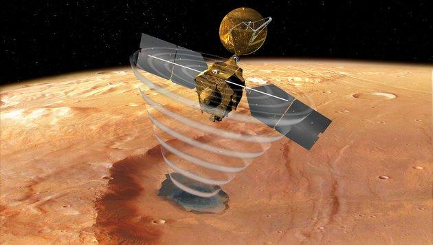 Riesige Wassereis-Schicht auf dem Mars entdeckt (Bild: NASA/JPL/Corby Waste)