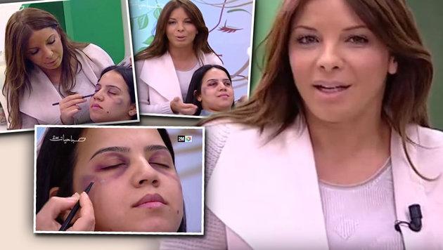 Staatsfernsehen gibt Schminktipps für Gewaltopfer (Bild: YouTube.com)
