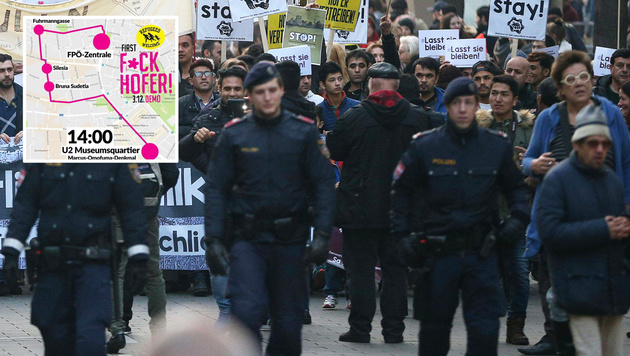 Anti-Hofer-Demo: Wann Sie Wien meiden sollten (Bild: twitter.com, APA/GEORG HOCHMUTH)