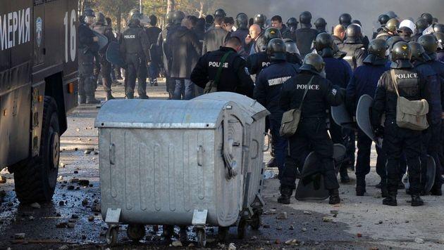 Flüchtlingsaufstand in Bulgarien (Bild: APA/AFP/STRINGER)