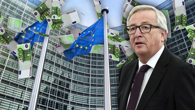 EU-Juncker kassiert 10.000 Euro Gehaltserhöhung (Bild: AFP/FREDERICK FLORIN, thinkstockphotos.de)