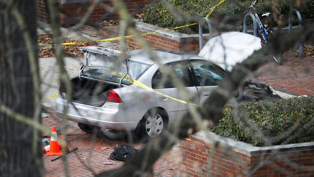 Das Auto des Täters (Bild: AP)