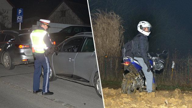 Rasante Flucht mit frisiertem Moped endet in Acker (Bild: Christian Schulter)