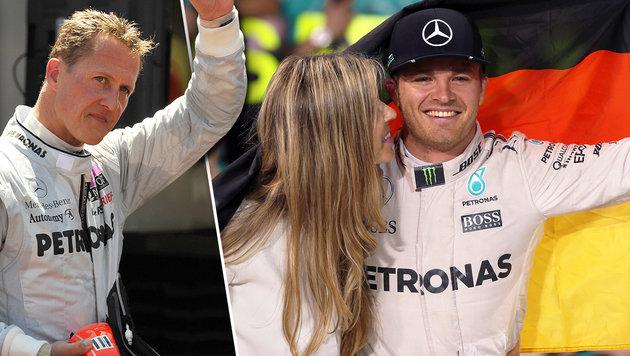 Rosberg widmet seinen Titel Michael Schumacher (Bild: AFP)