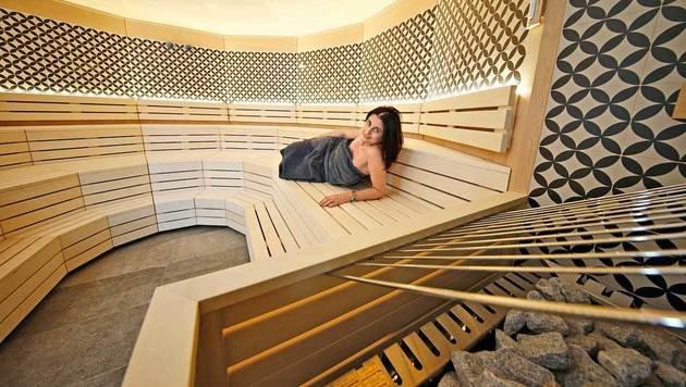 Individueller Rückzug auf höchstem Niveau - hier die Sauna. (Bild: Reinhard Holl)