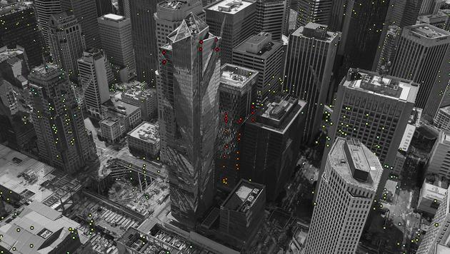 Ein Bild der ESA zeigt das Absinken des Turms. (Bild: AP)
