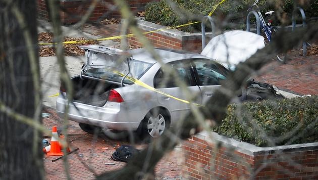Das Auto des Angreifers (Bild: AP)